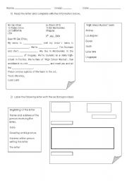 English Worksheets: process writing a letter