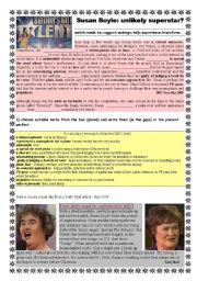 English Worksheets: Susan Boyle; Now and then