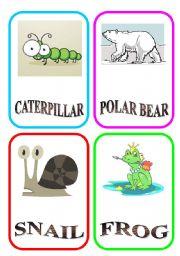 English Worksheets: ANIMAL FLASH-CARDS - PART 5