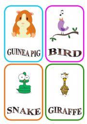 English Worksheets: ANIMAL FLASH-CARDS - PART 6