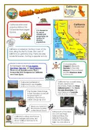 Countries worksheets english worksheet california the golden state altavistaventures Image collections