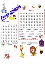 English Worksheets: Animals - Pet and zoo