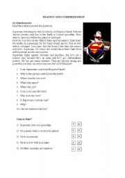 Superman - reading and comprehension 1