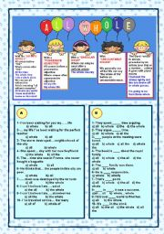 English Worksheets: All, whole