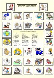 English Worksheets: Jobs and professions!