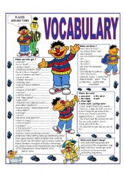 English Worksheet: �RECYCLING VOCABULARY� - TOPIC: PLACES AROUND TOWN