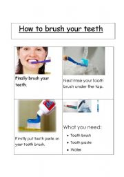 English Worksheets: Clean teeth