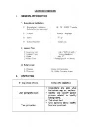 English Worksheets: my first learning session