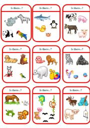 English Worksheets: IS THERE CARDS