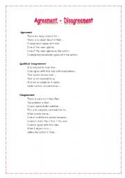 English Worksheets: Agreement&Disagreement Expressions
