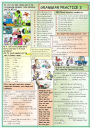 English Worksheets: Grammar practice 3