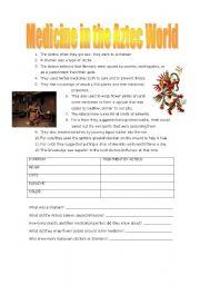 English worksheets: Aztec Medicine
