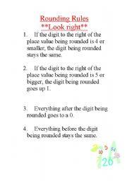English Worksheets: Rounding Rules