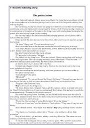 English Worksheet: Short story + exercise