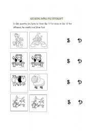 English Worksheets: same or different