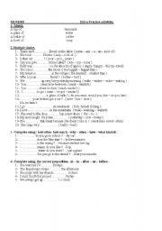 English Worksheet: Movers. Worksheet