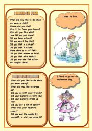 English Worksheet: WHAT DID YOU LIKE TO DO DURING YOUR CHILDHOOD