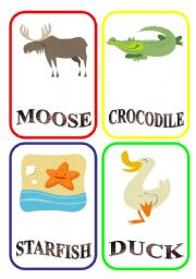 English Worksheets: ANIMAL FLASH-CARDS - PART 7