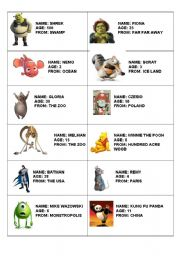 English worksheets: personal information worksheets, page 34