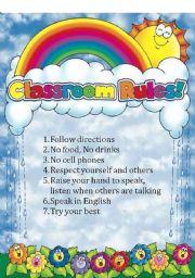 English Worksheet: Classroom Rules 2