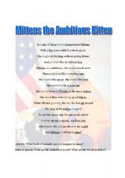 English Worksheets: Mittens the Ambitious Kitten