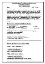 English Worksheets: pre-intermediate