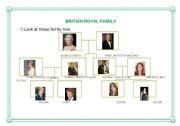 English Worksheet: British Royal Family Tree