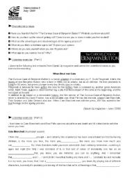 English Worksheets: The Curious Case of Benjamin Button (student�s)