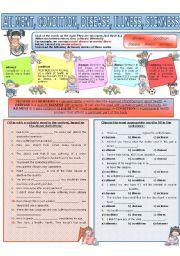 COLLOCATION 47 - AILMENT, CONDITION, DISEASE, ILLNESS, SICKNESS