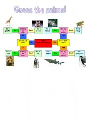 English Worksheets: Guess the animal