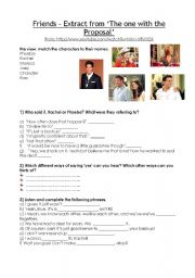 English Worksheets: Video Lesson - Friends