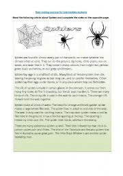 English Worksheets: Note making-Spiders