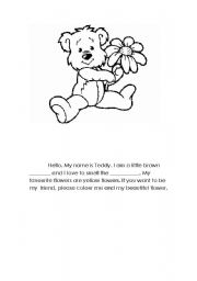 English Worksheets: Teddy, the little bear