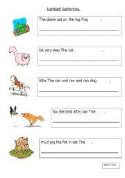English Worksheets: Jumbled words