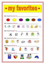 Esl Worksheets For Beginners My Favorites