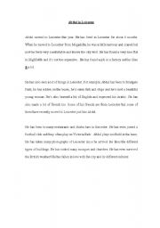 English Worksheets: Reading Comprehension Lower Intermediate