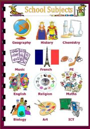 english teaching worksheets school subjects. Black Bedroom Furniture Sets. Home Design Ideas