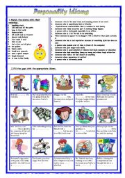 English Worksheet: Personality idioms 3