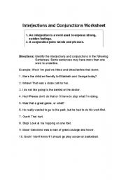 Printables Interjections Worksheet english teaching worksheets interjections conjunctions and interjections