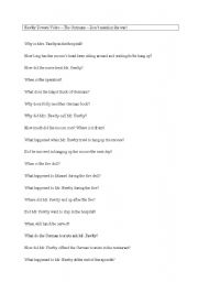 English worksheet: Fawlty Towers Worksheet Questions for the episode The Germans