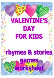 English Worksheet: Valentine´s Day for kids