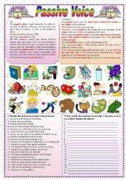 English Worksheets: Passive voice (fully editable - keys included)