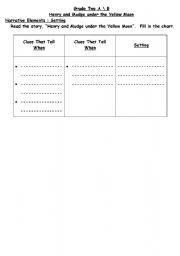 English Worksheets: Setting