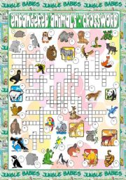 Endangered Animals - Crossword