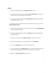 English worksheet: Working- questions and idioms