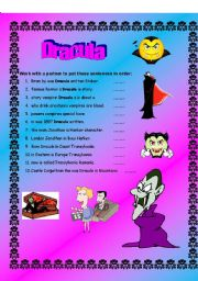 Dracula - (( Grammar )) elementary to intermediate - (( 8 Pages )) - Editable