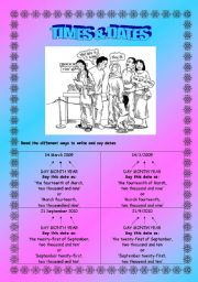 Times & Dates Grammar & Sentence Structure - Elementary - (( 4 Pages )) - Editable