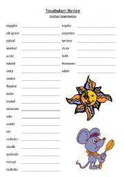 English Worksheets: Word Scramble