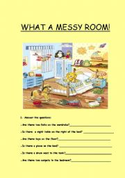 English Worksheets: Short answers : Is there::?Are there...?+ prep