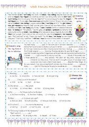 English Worksheet: Verb Tenses Revision
